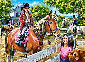 Пазл Castorland на 300 деталей «Катание на лошади», 095