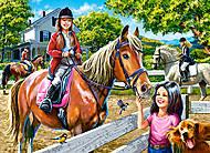 Пазл Castorland на 300 деталей «Катание на лошади», 095, фото