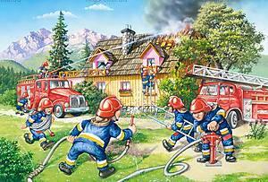 Пазл Castorland maxi на 40 деталей «Бригада пожарных», 025