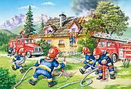Пазл Castorland maxi на 40 деталей «Бригада пожарных», 025, купить