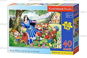 Пазл Castorland maxi на 40 деталей «Белоснежка и 7 гномов», 0, купить