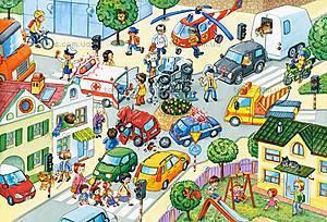 Пазл Castorland maxi на 40 деталей «Дорожное столкновение», 100