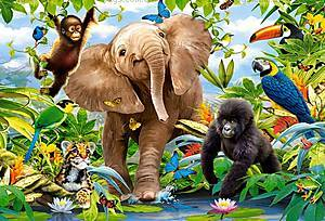 Пазл Castorland maxi на 40 деталей «Юные джунгли», 124