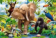 Пазл Castorland maxi на 40 деталей «Юные джунгли», 124, купить