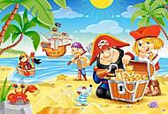 Пазл Castorland maxi на 40 деталей «Пиратский клад», 148, фото