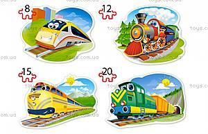 Пазлы Castorland 4х1 «Забавные паровозики», В-043033