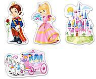 Пазл Castorland 4х1 «Мир принцесс», 5031, купить