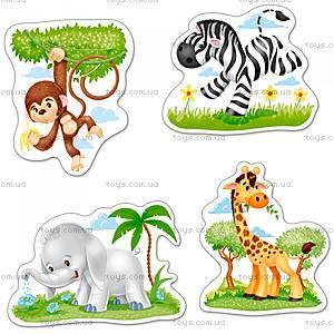 Пазл Castorland 4 в 1 «Африканские животные», В-005017