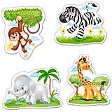 Пазл Castorland 4 в 1 «Африканские животные», В-005017, фото