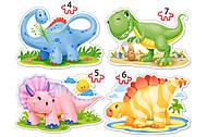 Пазл Castorland 4х1 «Динозавры», 386