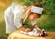 Пазл Castorland на 500 деталей «Маленькая медсестра», 2004, фото