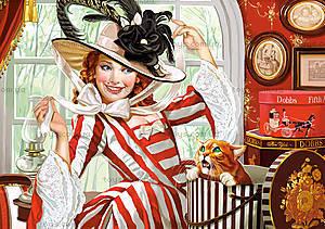 Пазл Castorland на 500 деталей «Леди в шляпе», 2165