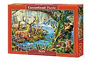Пазлы Castorland 500 «Лесная жизнь», В-52929, купить