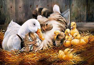 Пазл Castorland на 500 деталей «Дружба Утки и Кота», В-51786