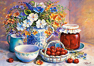 Пазл Castorland на 500 деталей «Букет и вишневое варенье», В-51816