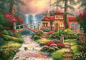 Пазл Castorland на 500 деталей «Дом у водопада», В-52202