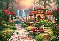 Пазл Castorland на 500 деталей «Дом у водопада», В-52202, купить