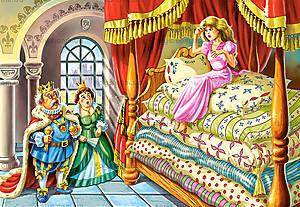 Пазл Castorland на 60 деталей «Принцесса на горошине», 380