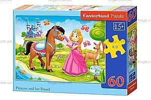 Пазл Castorland на 60 деталей «Принцесса и её друг», 816, купить