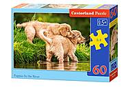 Пазлы Castorland 60 «Щенки у воды», В-06946