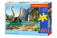 Пазлы Castorland 60 «В мире динозавров», В-06922, купить