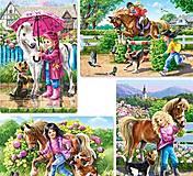Пазл Castorland на 80 деталей «Девочка и лошадка», 80вк