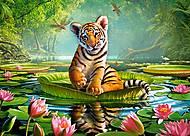 Пазлы Castorland midi на 120 деталей «Тигр в лилиях», В-13296, купить