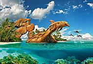 Пазлы Castorland на 1000 деталей «Дельфиний рай», С-103508, фото