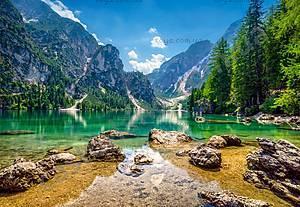 Пазлы Castorland на 1000 деталей «Озеро в горах», С-103416