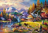 Пазлы Castorland на 1500 деталей «Домик в горах», С-151462