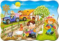 Пазлы Castorland на 30 деталей «День на ферме», В-03563, купить