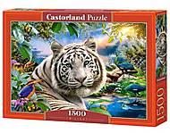Пазл Castorland на 1500 элементов «Белый тигр», С-151318