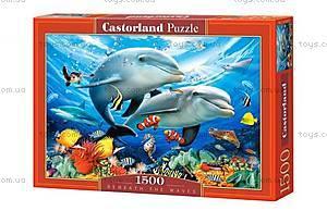 Пазл Castorland на 1500 элементов «Дельфины», С-1512