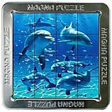 Пазлы «Дельфины» магнитные 3D, 16 элементов, 21188, toys