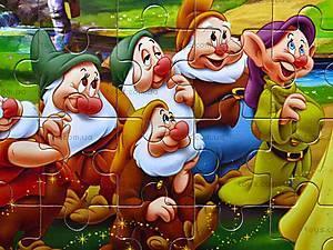 Пазлы деревянные «Белоснежка и семь гномов», 020, фото