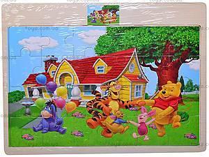 Пазлы деревянные детские «Винни Пух», 2056