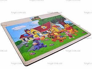 Пазлы деревянные детские «Винни Пух», 2056, отзывы