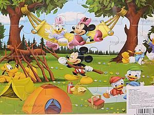 Пазлы деревянные «Микки Маус», 1809A23, игрушки