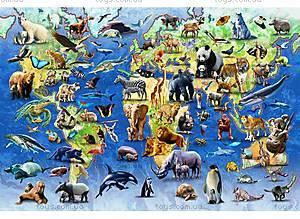 Пазлы деревянные резные «100 исчезающих видов животных», 40 частей, 602713