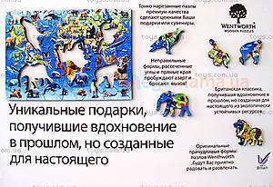 Пазлы деревянные резные «100 исчезающих видов животных», 40 частей, 602713, фото