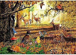 Пазлы деревянные резные «Дубовый лес», 40 частей, 602606