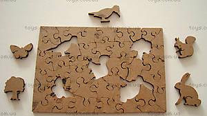 Пазлы деревянные резные «Небесные дороги», 40 частей, 511413, фото