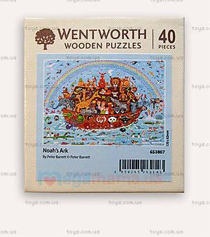 Пазлы деревянные резные «Ноев ковчег», 40 частей, 653807, фото