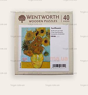 Пазлы деревянные резные «Подсолнухи Ван Гога», 40 частей, FR104, купить