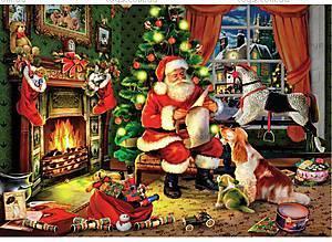 Пазлы деревянные резные «Рождественские подарки», 40 частей, 470301