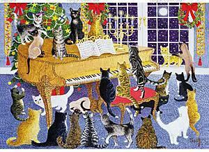 Пазлы деревянные резные «Рождественский хор», 40 частей, 571903