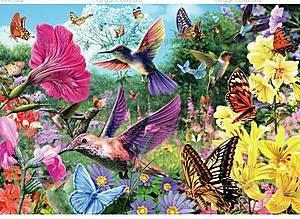 Пазлы деревянные резные «Сад колибри», 40 частей, 630101