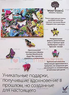 Пазлы деревянные резные «Сад колибри», 40 частей, 630101, фото