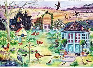 Пазлы деревянные резные «Весенний сад», 40 частей, 621603
