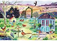 Пазлы деревянные резные «Весенний сад», 40 частей, 621603, набор